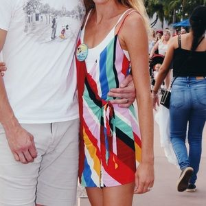 Zara Wrap Rainbow Tie Romper